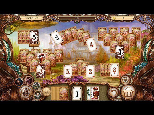 Пасьянс Белоснежка. Зачарованное королевство скриншот 3